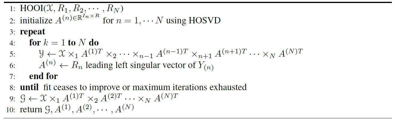 HOOI algorithm